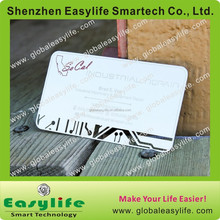 Good quality fashion design vip card, mirror finished metal card, stainless steel business card