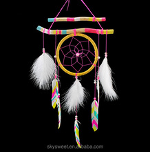 hot sale Indian dream catcher,fashion eco-friendly handicrafts dream catcher ornament(SWTPR1568)