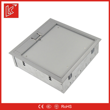 IP55 UK 4 gang 13a socket electrical network outlets floor box