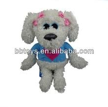Top quality plush mini dog keychains,plush animal keychain