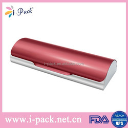 Red nice indestructible aluminum glasses case wholesale