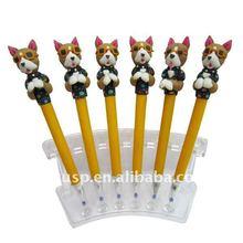 2015 hot selling Promotional Dog-shaped polymer Clay Pen fimo Promotional Dog-shaped Clay gel ink Pen