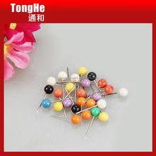 Colored Plastic Ball Head Steel Map Push Pin