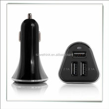 New 3 port car charger ,5.2A 26W electric car battery charger