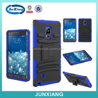 Hard Hybrid Case Cover Military Stand Holster Locking Belt Clip combo holster cover case for samsung galaxy note edge