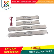 4x4 car door sill for Ranger parts T6 Ranger door sill scuff plate-led