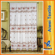 Flat embroidery voile curtain for window curtain ,living curtain