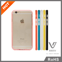 Detachable TPU PC Design PC Clear Hard back colorful TPU Cover Frame case skin shell Cover For iphone 6 6plus