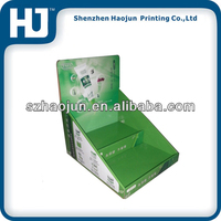 Corrugated paper display box for olive oil