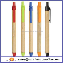 Free sample promotional items to school and office paper ball pen