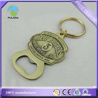 wholesale antique bronze brass metal zinc alloy promotional beer bottle opener keychain