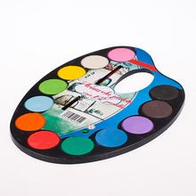 12 color solid watercolor paint