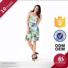 OEM Ladies Middle Waist Straps Embroidered Elastic Strappy One Piece Teenage Girls Party Dresses 2013