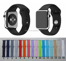 For Apple Watch Strap Split Silicone Strap For apple watch 38mm 42mm 1:1 original for apple watch sport wrist silicone band
