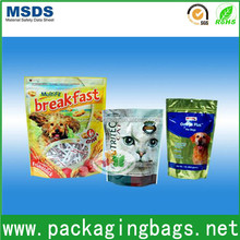 High quality good printed logo best price plastic package for pet food