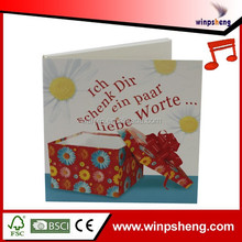 New Design Music Greeting Card/Greeting Card With Music