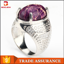 Male jewelry silver ring configuration/stone ring, 625 silver inlaid small zircon jewelry Korean man ring