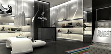 Brand Melissa Shoe Shop Wonderful Decoration and Design Display Shelf for Attract Customer Function