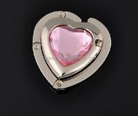 New Customized Logo metal crystal Bag Hanger cheap folding magnetic purse hook
