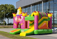 Inflatable combo bouncy castle jumping slide