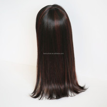 China factory wholesale good quality OEM heat resistant kanekalon fiber hair synthetic wig