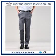 Spandex fantaisie hommes travaillent bureau pantalons OEM élégante droite hommes pantalons
