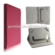 Universal plain color tablet pc 7 inch leather cover case