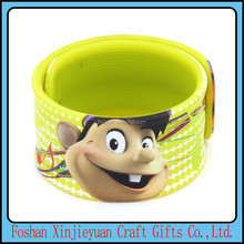 New party & event supplies plastic silicone slap bracelet rubber