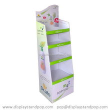 milky lotion/essential oil cardboard displaystand for toiletry shop