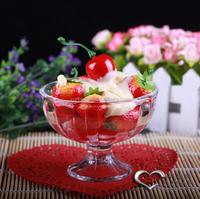 2015 Hot selling ice cream glass,ice cream glass containers,glass ice cream bowl