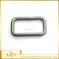 Wholesale metal wire iron square ring strap buckle for bags