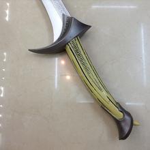 "35"" Foam Fantasy Flamberge Sword Fire Skull Medieval Sword Weaponry Cosplay LARP"