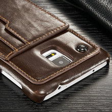 Luxury R64 leather For samsung galaxy note 4 case Back Stand Card phone cases