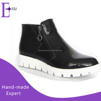 women platform shoes 2016/ladies high neck casual shoes
