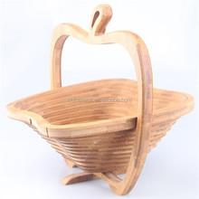 Folding fruit /animal shaped folding bamboo bread basket