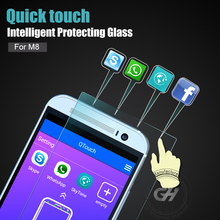 0.35mm 9h 0% defective rate hardness anti blue ray premium glass screen protector for htc desire 501