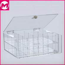 clear acrylic display box with logo printing sticker advertising acrylic box display