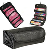 Non woven fabric Roll Up Cosmetic Travel Organizer Bag, Hanging Cheap Travel Toiletry bag