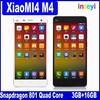 "2015 Fashion New Original XiaoMI4 M4 FDD LTE Quad Core 5.0"" 1920x1080P 3GB RAM 16GB ROM 13MP Mi4 M4 Mobile Phone"