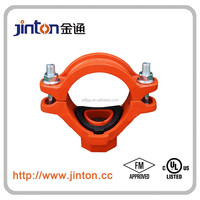 FMUL approved cast iron pipe fitting of mechanical tee threaded outlet