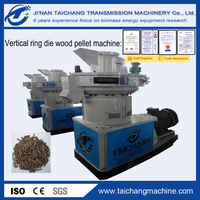 TAICHANG brand Vertical Ring Die Wood Pellet Machine with Auto Lubrication System