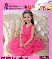 2015 Europe Style China Made Chiffon Party Dress Wholesale Hot Sale Princess Summer Dress Design Patterns Kids