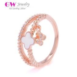 2015 European Fashion Sterling Silver Crown Flower Rings Wholesale