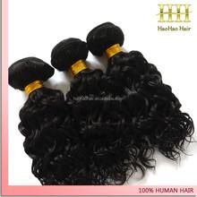 Jet black deep wave Mongolian virgin no tangle no shed human hair weave