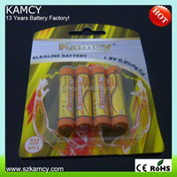 LR03 1.5V AAA alkaline battery for romote control
