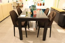 modern dining room furniture glass dining tables chairs CT508 & CY508