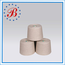 50 Ne/1 CVC Cotton/Polyester Blended Yarn 80%/20% Raw White and Dyed