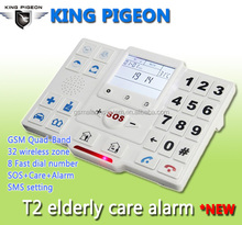 King Pigeon GSM Elderly care products,equips Elderly care panic button/Elderly care alarm wrist,GSM Elderly Healthcare