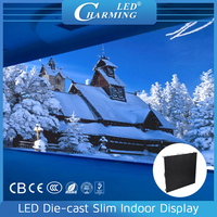 P4 indoor led flat screen / stage background video display