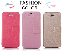 Candy color Leather Wallet Phone Case Three in One for Iphone 6/6 plus